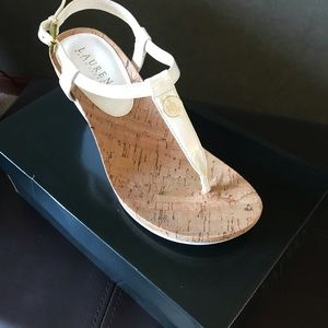Ralph Lauren white sandals size 8